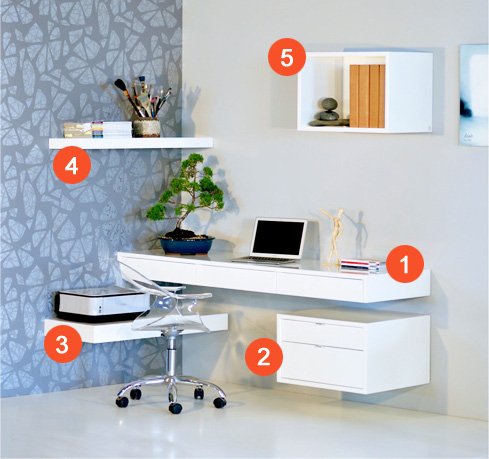 floating office desk. floating office solution desk
